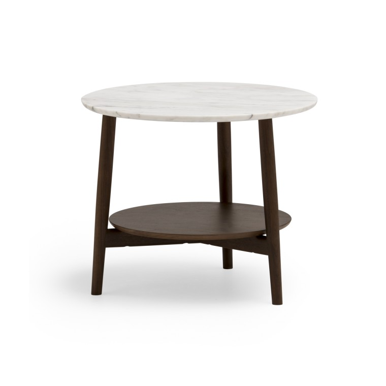 KAMUY リビング 丸テーブル φ58(大理石)