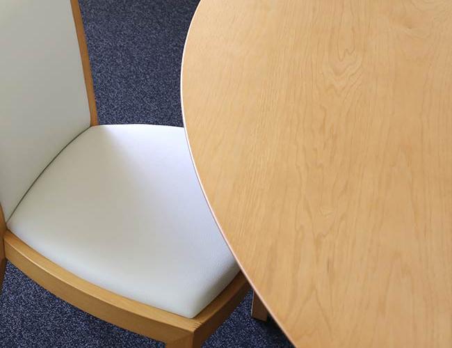 【ヴィンテージ】ラ・ヴィー エッグテーブル/サイドチェアー 2脚